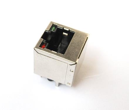 10/100base rj45变压器 180度 带灯屏蔽